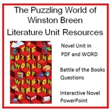 """The Puzzling World of Winston Breen"", by E. Berlin, Entire Unit on CD"