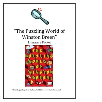 """The Puzzling World of Winston Breen"", by E. Berlin, Lit Unit, 78 Pgs!"