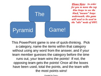 The Pyramid Game of Categorizing