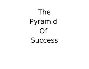 The Pyramid of Success Blocks