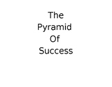 The Pyramid of Success Blocks