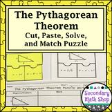 The Pythagorean Theorem Cut, Paste, Solve, Match Puzzle