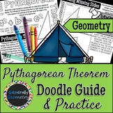The Pythagorean Theorem Doodle Guide & Practice Worksheet;