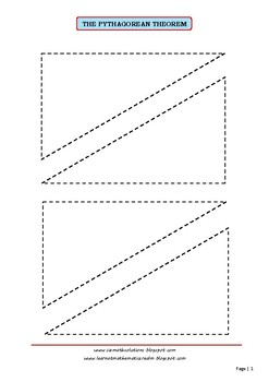 The Pythagorean Theorem Exploration Cutouts (part 2)