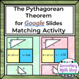 The Pythagorean Theorem GOOGLE DRIVE Puzzle Matching Activity