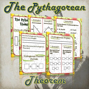 The Pythagorean Theorem- (Guided Notes and Practice)