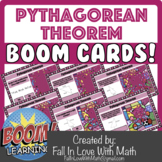 The Pythagorean Theorem & It's Converse Boom Cards!