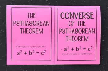 The Pythagorean Theorem & Its Converse (Foldable)
