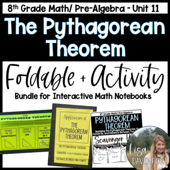 The Pythagorean Theorem (Pre- Algebra Foldable & Activity Bundle)