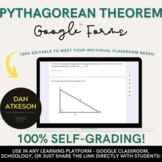 The Pythagorean Theorem| Solving Right Triangles | 2 Self-Grading Google Forms™