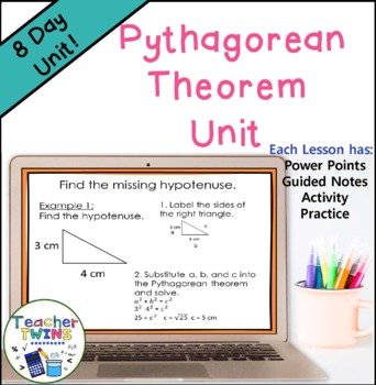 The Pythagorean Theorem Unit Common Core Standards 8.G.6, 8.G.7, 8.G.8
