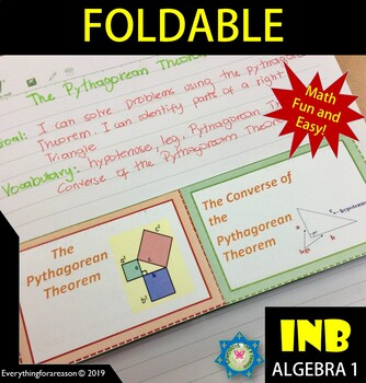 The Pythagorean Theorem and its Converse Foldable