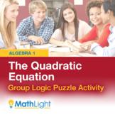 The Quadratic Equation/Formula Logic Puzzle Group Activity