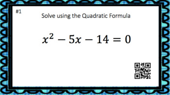 The Quadratic Formula - 20 Task Cards (2 levels)  Interactive Video & Notes!