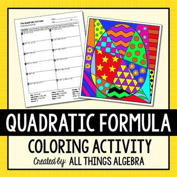 Quadratic Formula Coloring Activity