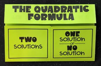 The Quadratic Formula (Foldable) for Algebra 1
