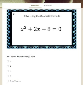 The Quadratic Formula (Google Form, Interactive Video Lesson & Notes!)