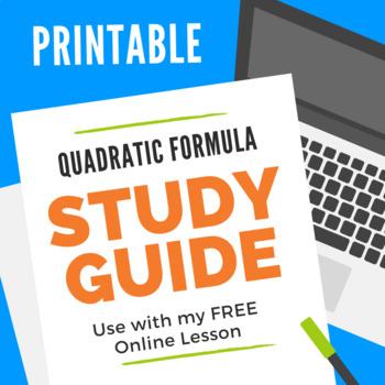 The Quadratic Formula Study Guide