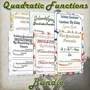 The Quadratic Functions Bundle - (Guided Notes and Practice)