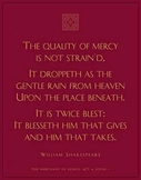Shakespeare poster. The Quality of Mercy, Merchant of Venice
