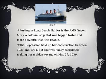 The Queen Mary Vessel