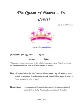 The Queen of Hearts - In Court! Small Group Reader's Theater