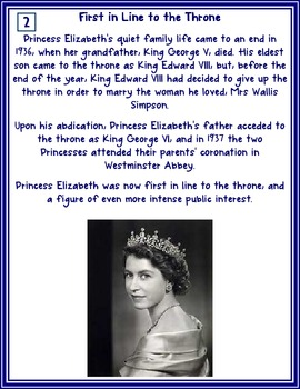 The Queen's Diamond Jubilee - Comprehension and Timeline Activities