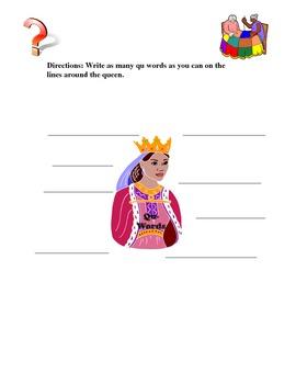 The Queen's Qu Words Activities