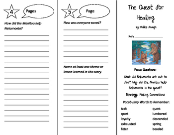 The Quest for Healing Trifold - Imagine It 5th Grade Unit 6 Week 3