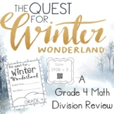 A Quest for Winter Wonderland Grade 4 Math Division Review Room Transformation