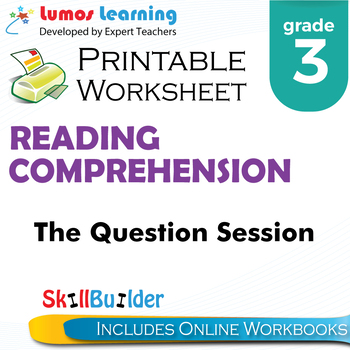 The Question Session Printable Worksheet, Grade 3