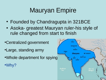 The Question of Legitimate Rule:  The Mauryan Empire PPT