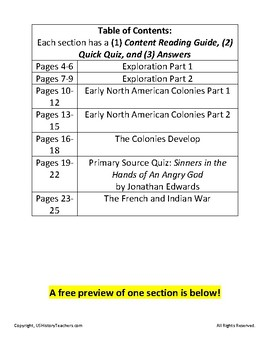 The Quick Quiz Book: Exploration to the French and Indian War