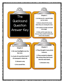 A to Z Mysteries THE QUICKSAND QUESTION  - Discussion Cards