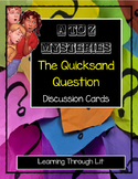 A to Z Mysteries THE QUICKSAND QUESTION Discussion Cards PRINTABLE / SHAREABLE!