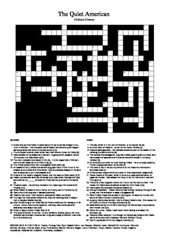 The Quiet American by Graham Greene - Crossword
