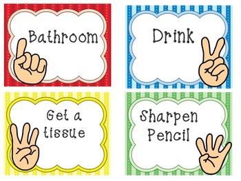 The Quiet Classroom Hand Signal Poster Set