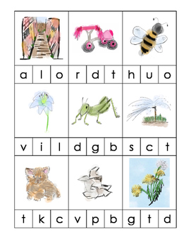 The Quiet Way Home - Phonics Cards