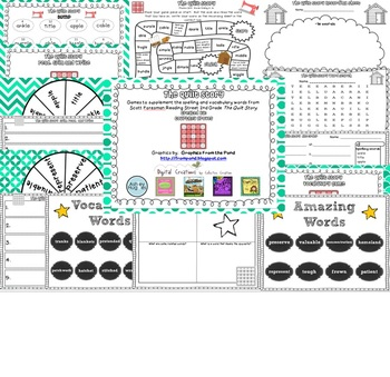 The Quilt Story Spelling and Vocabulary Games