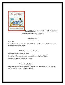 The Quilt Story for Guided Reading