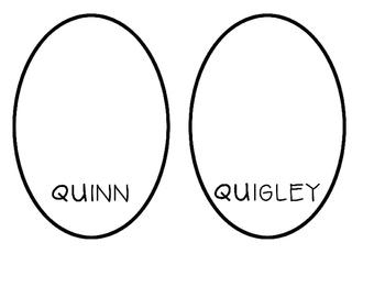 The Quints Letter Q Activity
