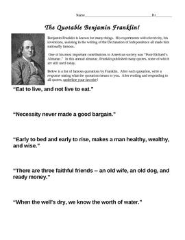 The Quotable Benjamin Franklin