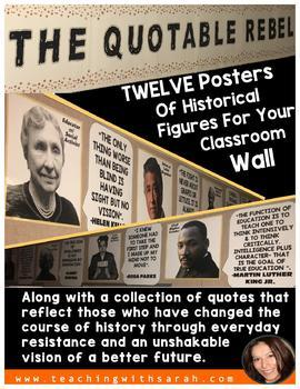'The Quotable Rebel' Wall Posters