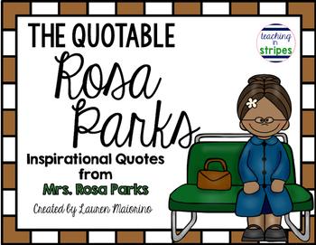 The Quotable Rosa Parks- Freebie!