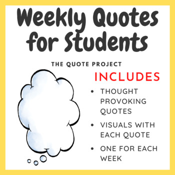 The Quote Project (Weekly Quotes for the Entire School Year)