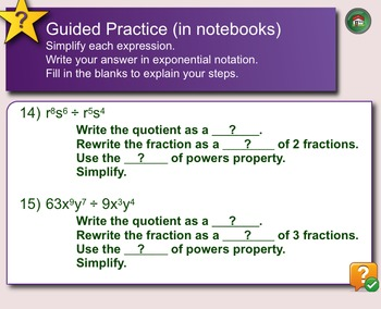 The Quotient of Powers Property SMARTNotebooks File