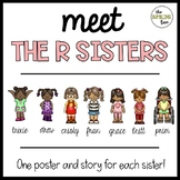 The R Sisters Posters (r blends br, pr, cr, tr, dr, fr, gr!)