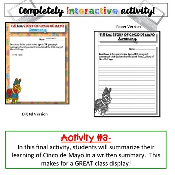 The REAL History of Cinco De Mayo {Digital AND Paper}