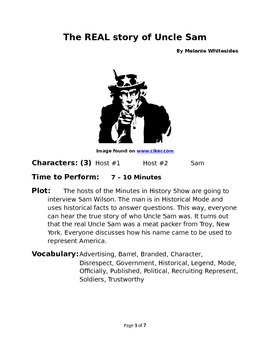 The REAL Story of Uncle Sam - Reader's Theater for Small Groups