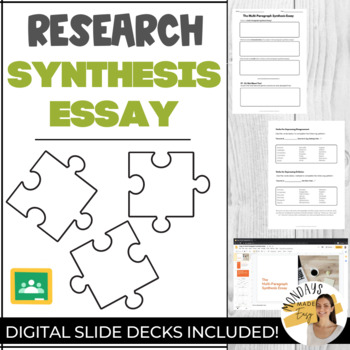 The RESEARCH SYNTHESIS ESSAY Writing Introductory Lesson, Guided Note, Handouts